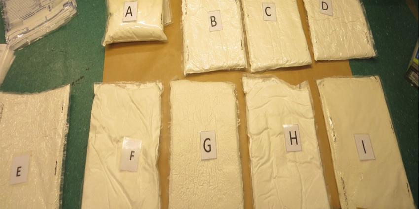 Foto van onderschepte cocaïne op Schiphol | KMAR