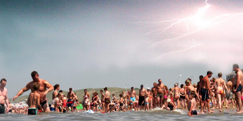 Het KNMI geeft zaterdag een waarschuwing onweer