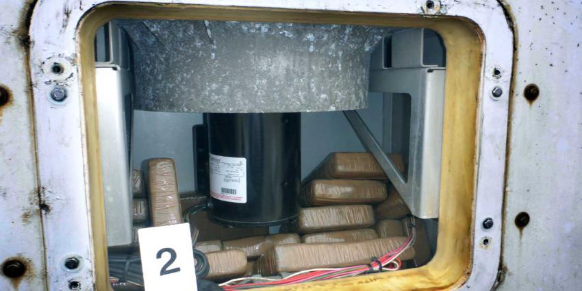 Koelmotor container bevat 65 kilo cocaïne