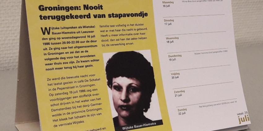 Wie weet meer over de dood van Wijtske Bauer-Hiemstra