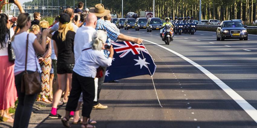 Delegatie regering bij herdenking slachtoffers MH17 op 17 juli