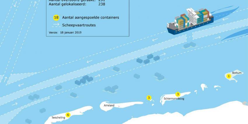 'Berging containers Wadden gaat maanden duren'