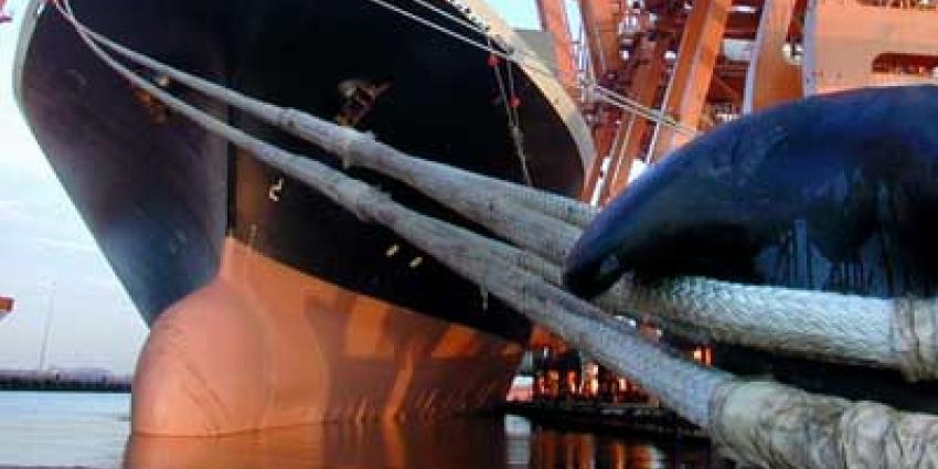 Foto van schip aan de kade   Archief EHF