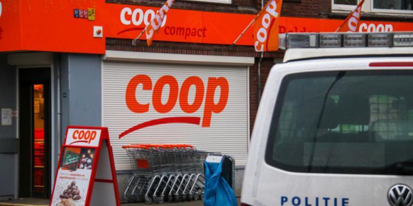 Twee Coöp-supermarkten in Schiedam achter elkaar overvallen