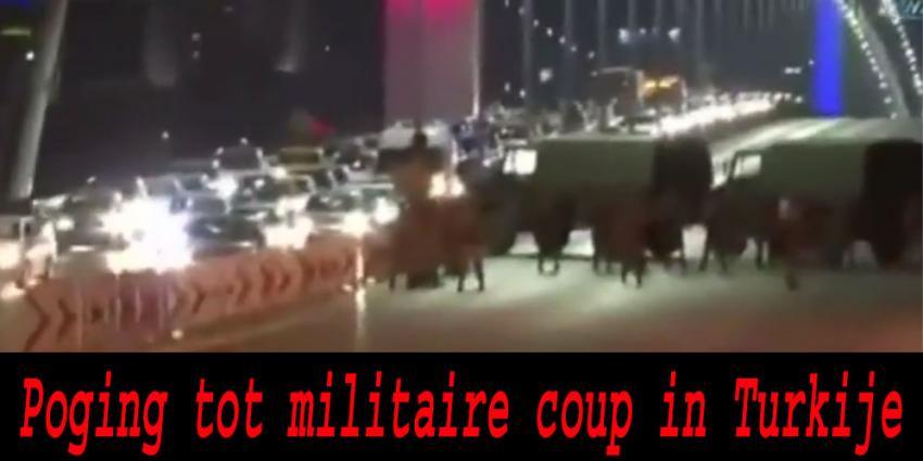 Militaire staatsgreep gaande in Turkije