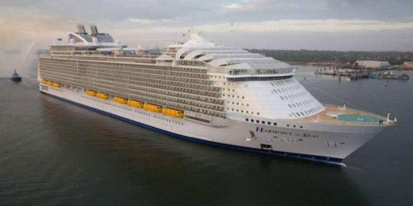 Grootste cruiseschip ter wereld meert dinsdag aan in Rotterdam