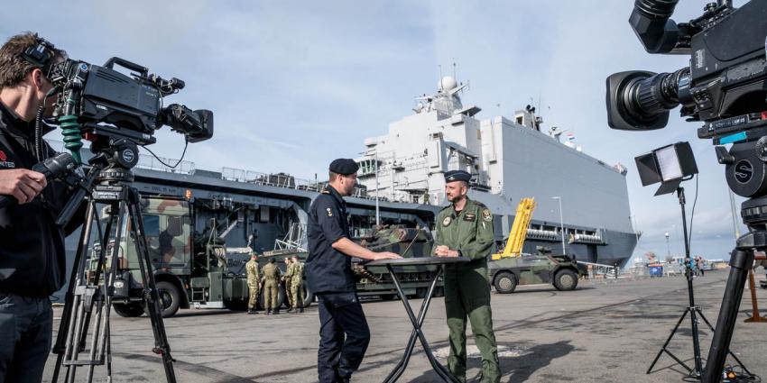 Amfibisch transportschip neemt deel aan bevrijding Noorwegen