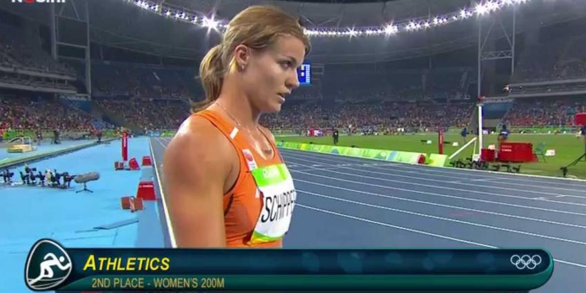 Dafne Schippers behaalt zilveren medaille op de 200 meter sprint