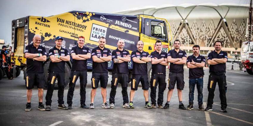 Team Van de Laar klaar voor de start van Dakar