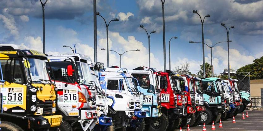 Kamaz torenhoge favoriet in jubileum-Dakar