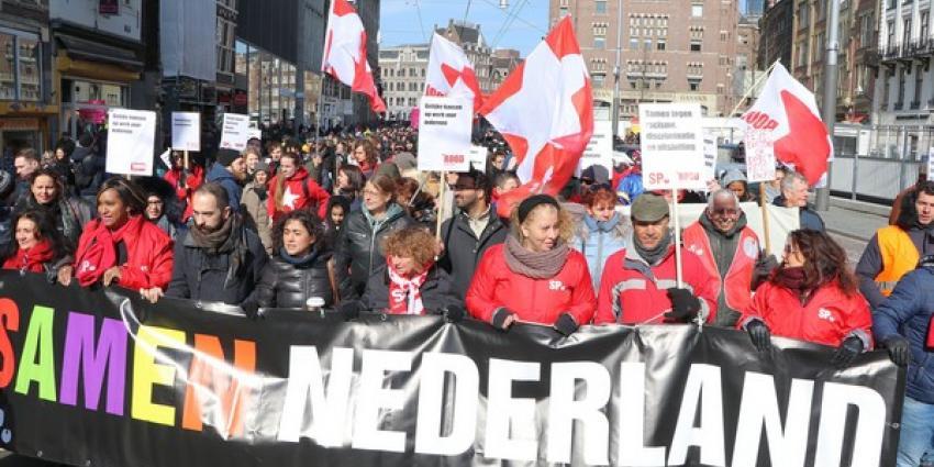 Demonstratie tegen racisme in Amsterdam rustig verlopen