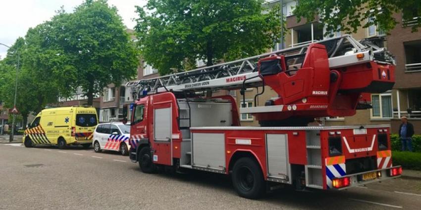 Hulpdiensten groots uitgerukt voor brand in appartementencomplex Den Bongert in Boxtel