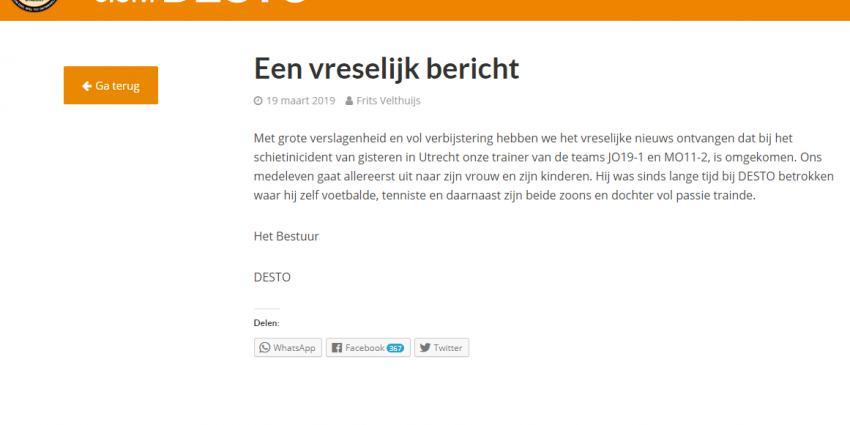 Vrouw uit Vianen en Utrechtse voetbaltrainer slachtoffers schietincident Utrecht