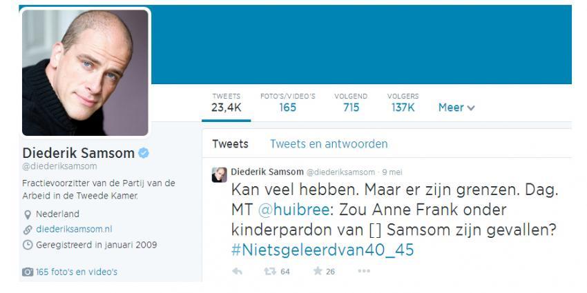 PvdA-voorman Samson stopt met twitter