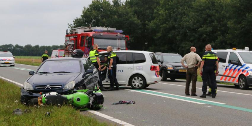 Motorrijder komt om het leven op N381 bij Sleen