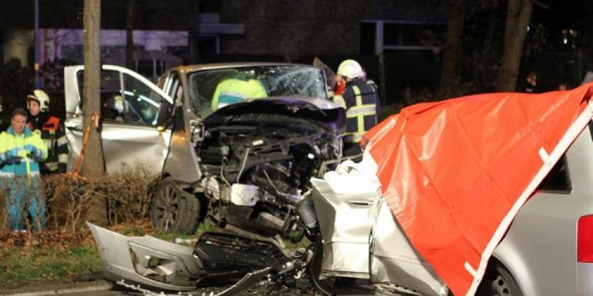 Automobilist overleden na frontale aanrijding met bestelbus