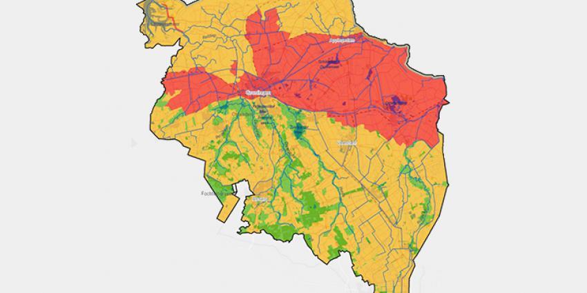 Kaart Drenthe en Groningen