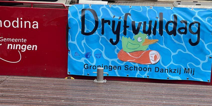 Drijfvuil verwijderd in Groningen