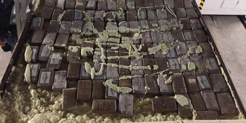 107 kilo cocaïne in plafond container