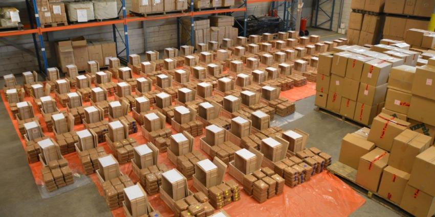 Enorme drugsvangst: 2900 kilo cocaïne uit Curacao
