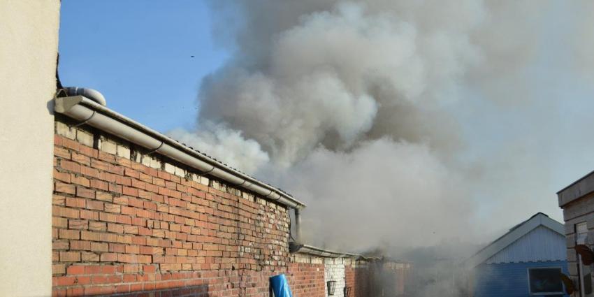 Hennepkwekerij in brandende garagebox Veendam