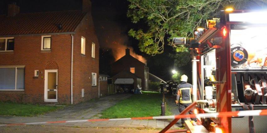 Brand in leegstaande woning in Nieuwolda