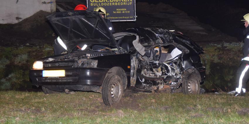 Automobiliste overleden bij eenzijdig ongeval