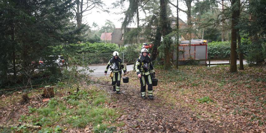 Brandje in leeg staande villa Den Dolder