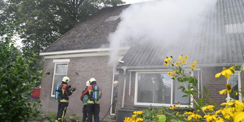 Brand in boerderij in Nieuwlande