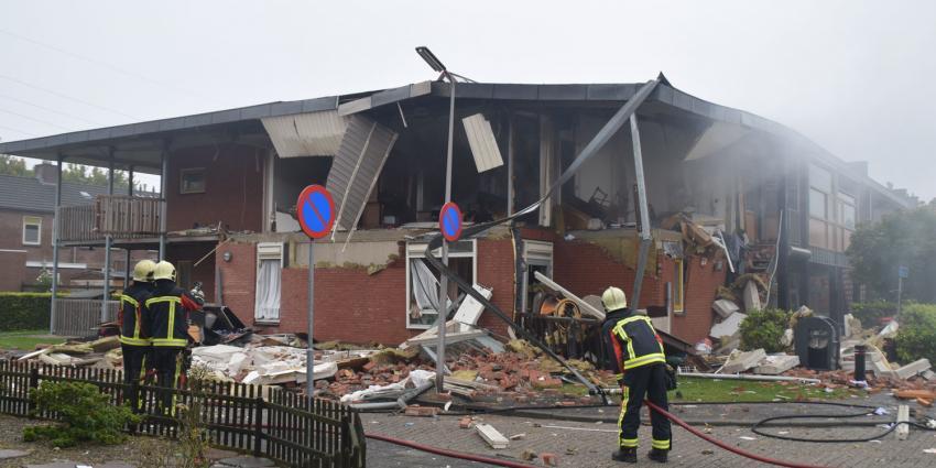 Bewoner veroorzaakte zelf explosie in Hoogeveen