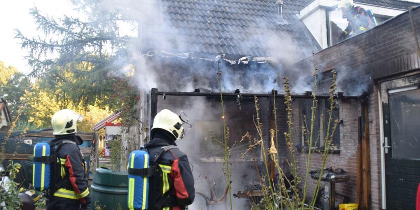 Forse schade aan woning door brand in Beilen