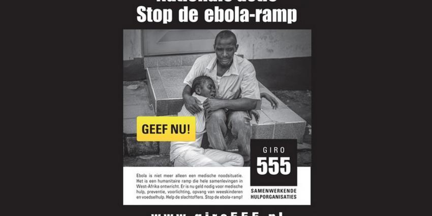 Tussenstand Ebola-actie staat op ruim 2,5 miljoen euro