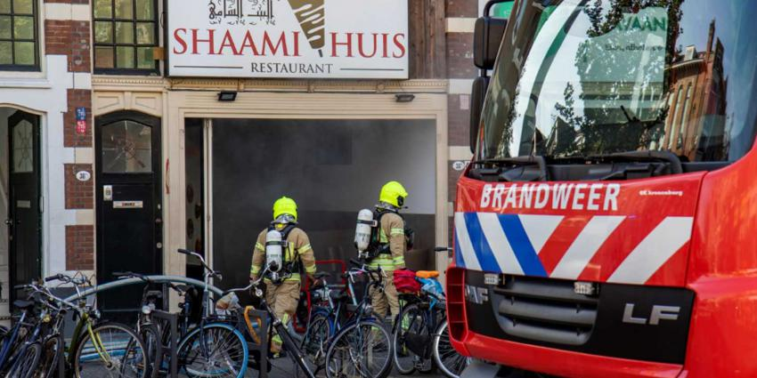 Brand in Rotterdams eethuis