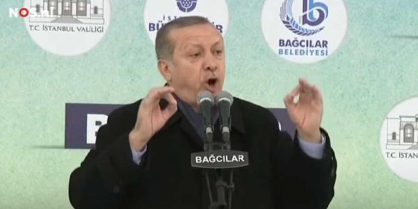 Erdogan vindt dat Merkel aan 'nazipraktijken' doet
