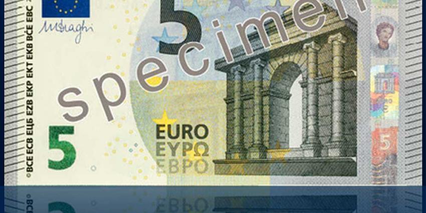 Foto van nieuw vijf euro biljet   DNB