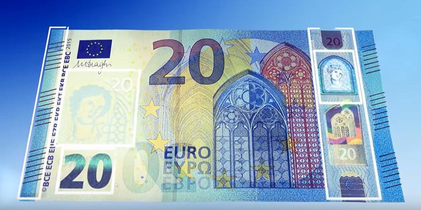 Nieuw Biljet Van 20 Euro Vanaf Woensdag 25 November In Omloop
