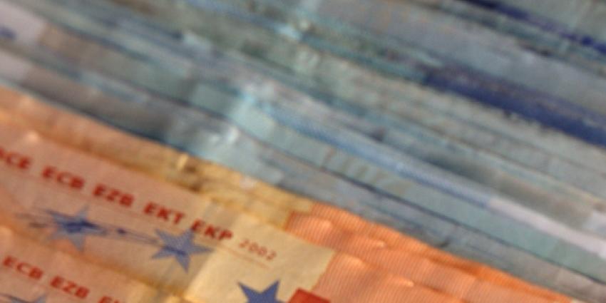 Foto van eurobiljetten