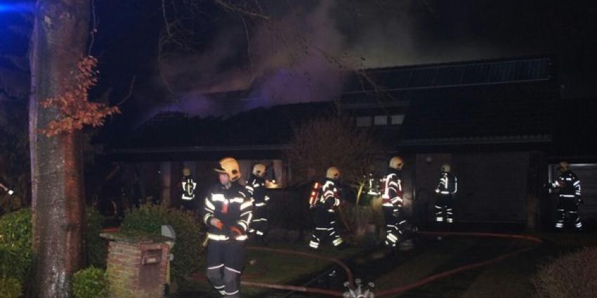 Uitslaande brand in seniorenwoning in Exloo