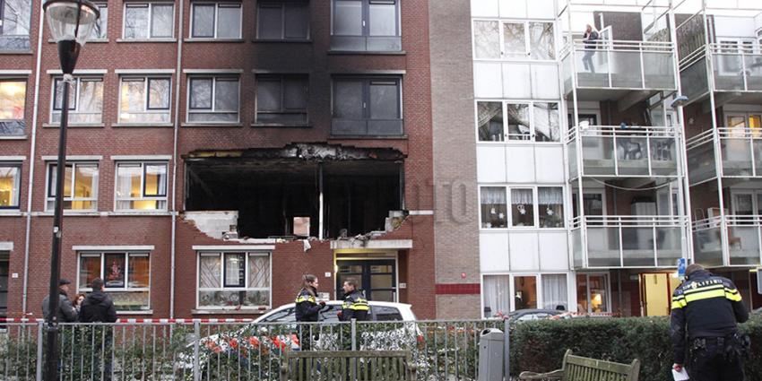 Ravage na explosie in woning Rotterdam