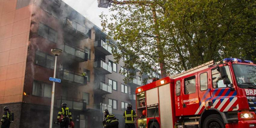 Explosie verwoest flatwoning
