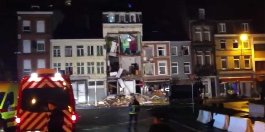 Gevel bij drie etages van pand in Verviers weggeslagen na explosie