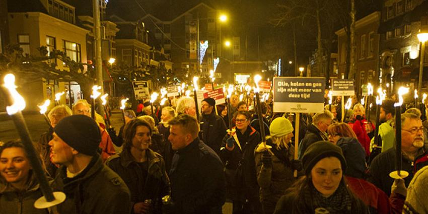 700 mensen protesteren tegen de gaswinning in Groningen