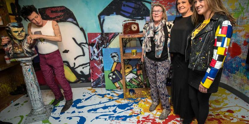 """Familie Herman Brood opent """"I AM ART"""" in Madame Tussauds Amsterdam"""