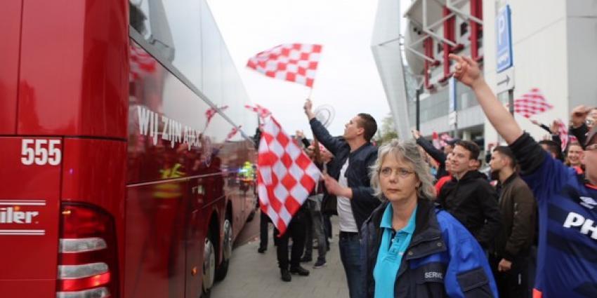 Feest in Eindhoven na overwinning PSV