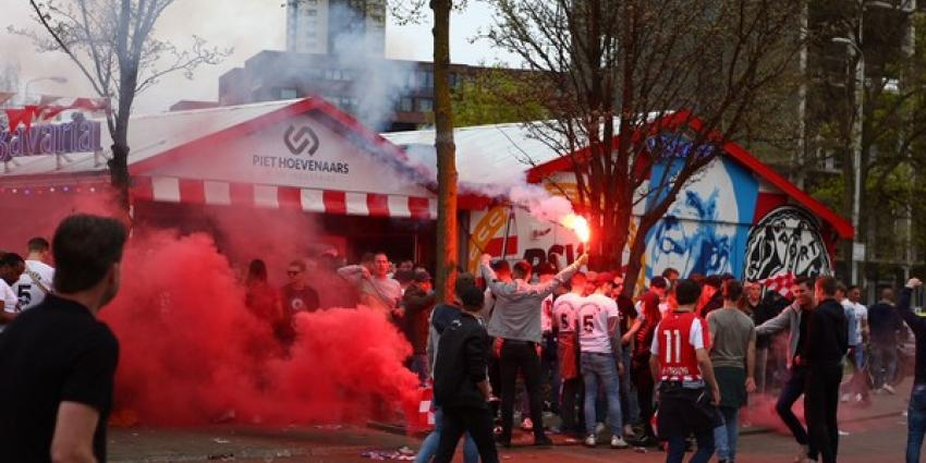 Feest in Eindhoven na overwinning PSV