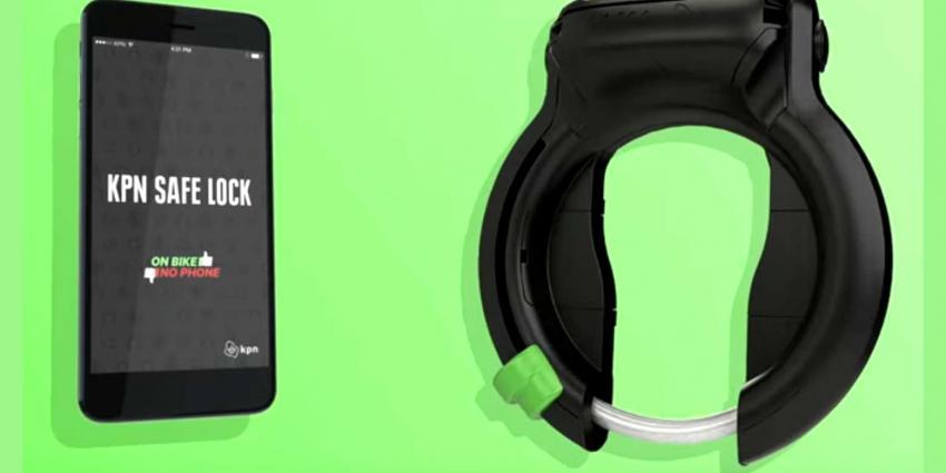 Smart fietsslot blokkeert smartphone tijdens fietsen