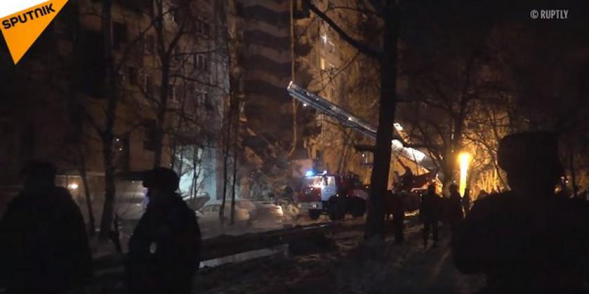 Flat in Rusland stort voor een deel in: doden en veel vermisten