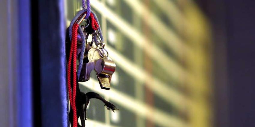 Foto van fluit scheidsrechter | Archief EHF
