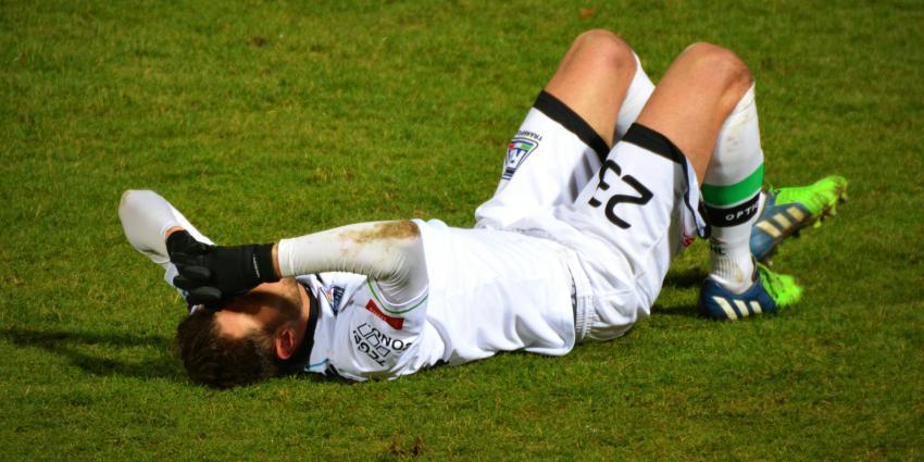 Voetballer met blessure