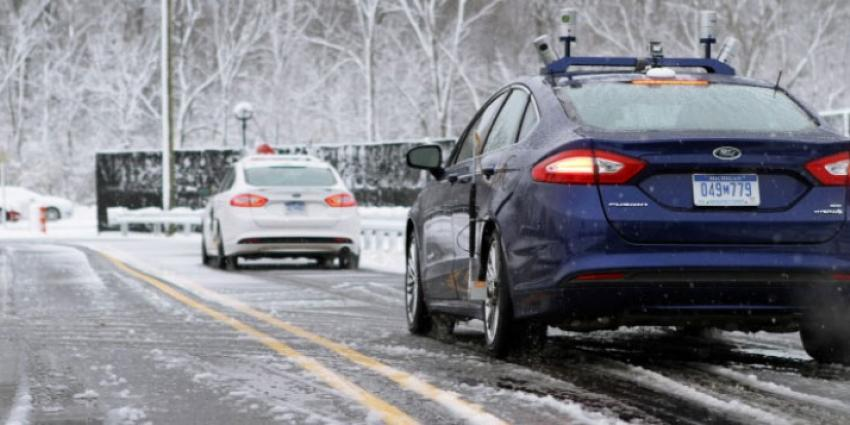 Ford wil ook tijdens winters weer auto autonome kunnen laten rijden